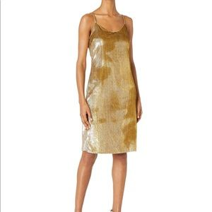 Cynthia Rowley silver and gold dress!